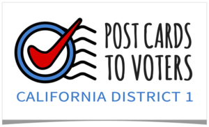 Write postcards to CD1 Voters